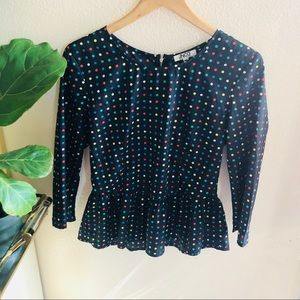 Polk a dot top